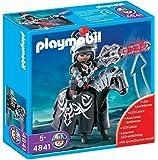 Playmobil - 4841 - Jeu de construction - Cavalier Dragon Rouge avec lance lumineuse
