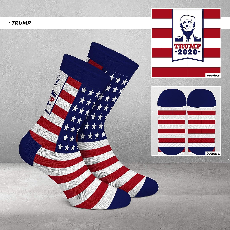 Womens Trump Crew Socks ~ 2020 American Flag Republican