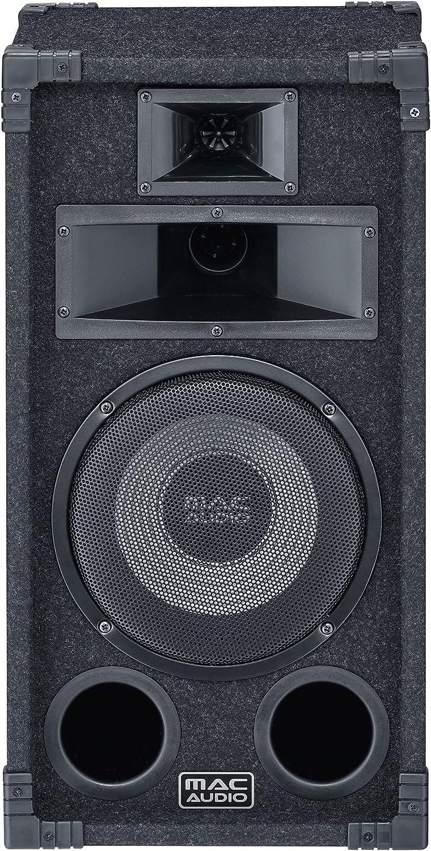 Mac Audio Soundforce 1200 130W Negro Altavoz - Altavoces (De 3 vías, 1.0 Canales, 130 W, 35-25000 Hz, 8 Ω, Negro)