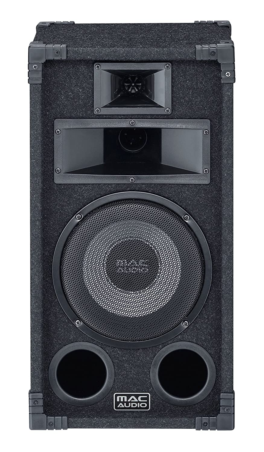 Mac Audio Soundforce 1200 130W Negro Altavoz - Altavoces (De 3 vías, 1.0 Canales, 130 W, 35-25000 Hz, 8 Ω, Negro)