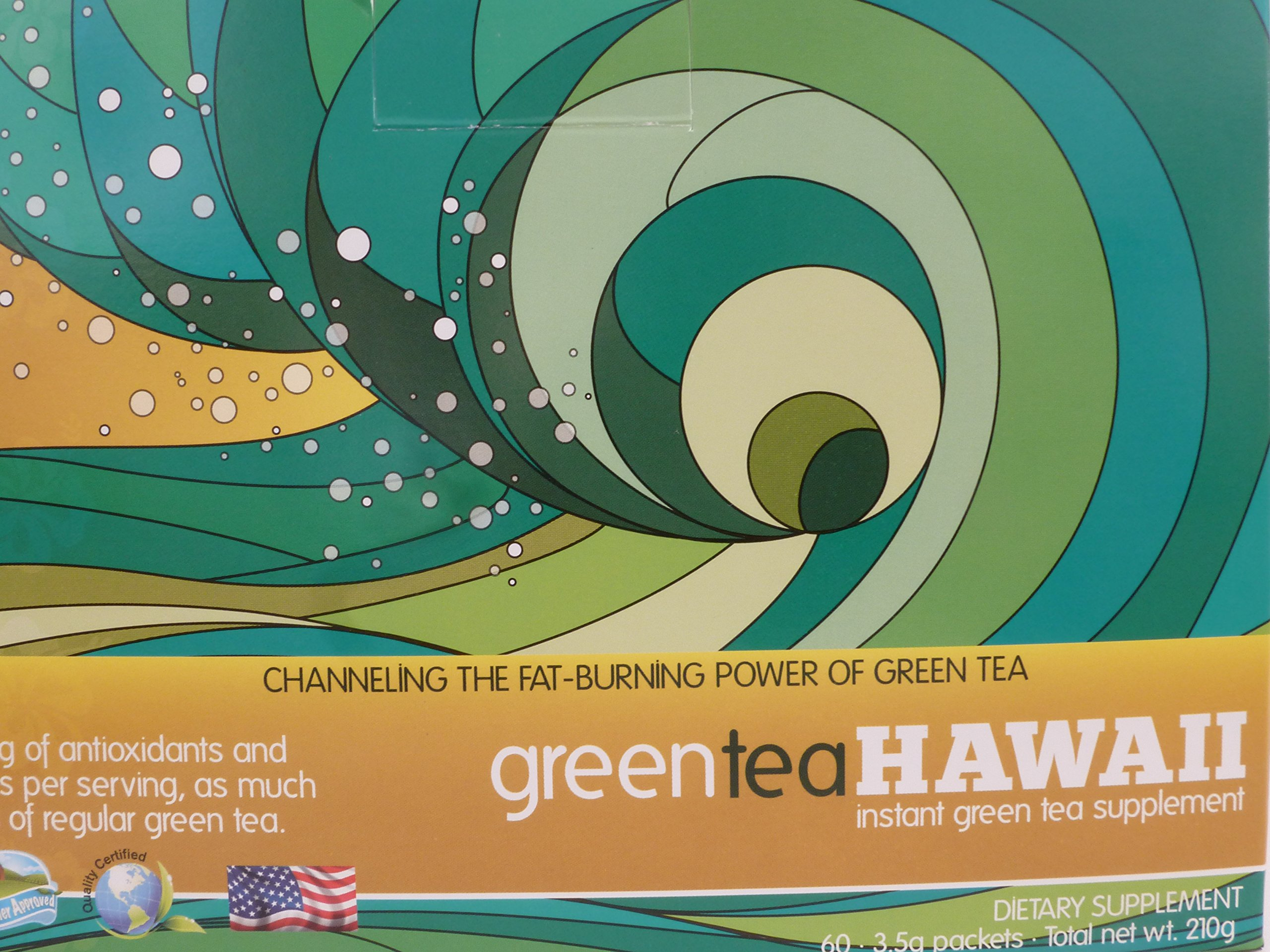 Green Tea Hawaii (Variety Pack) Powder with Noni, 60 Packets, 540 mg of Antioxidants/Polyphenols, All Natural by greenteaHAWAII (Image #1)