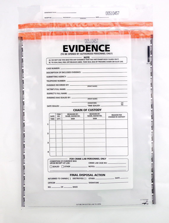 Amazon.com: Large Plastic Evidence Bag, 100 pk: Industrial & Scientific
