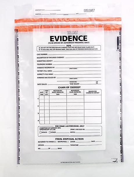 Amazon.com: Bolsa de plástico para evidencia, 100 ...