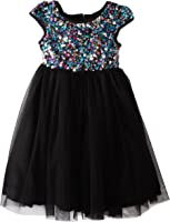 Marmellata Little Girls' Sequin Topped Party Dress