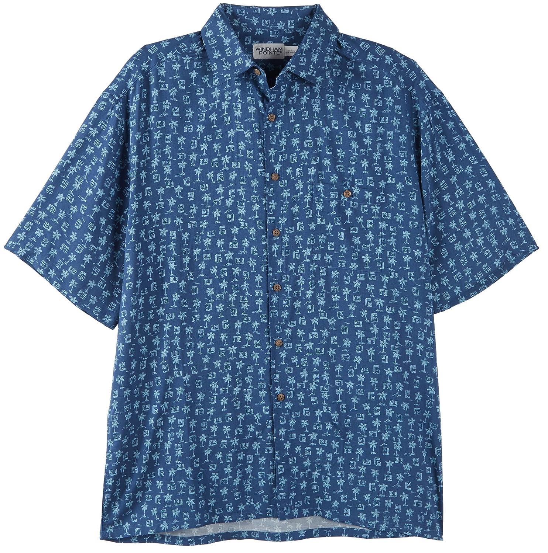 windham pointe mens indigo palms shirt at amazon men u0027s clothing store