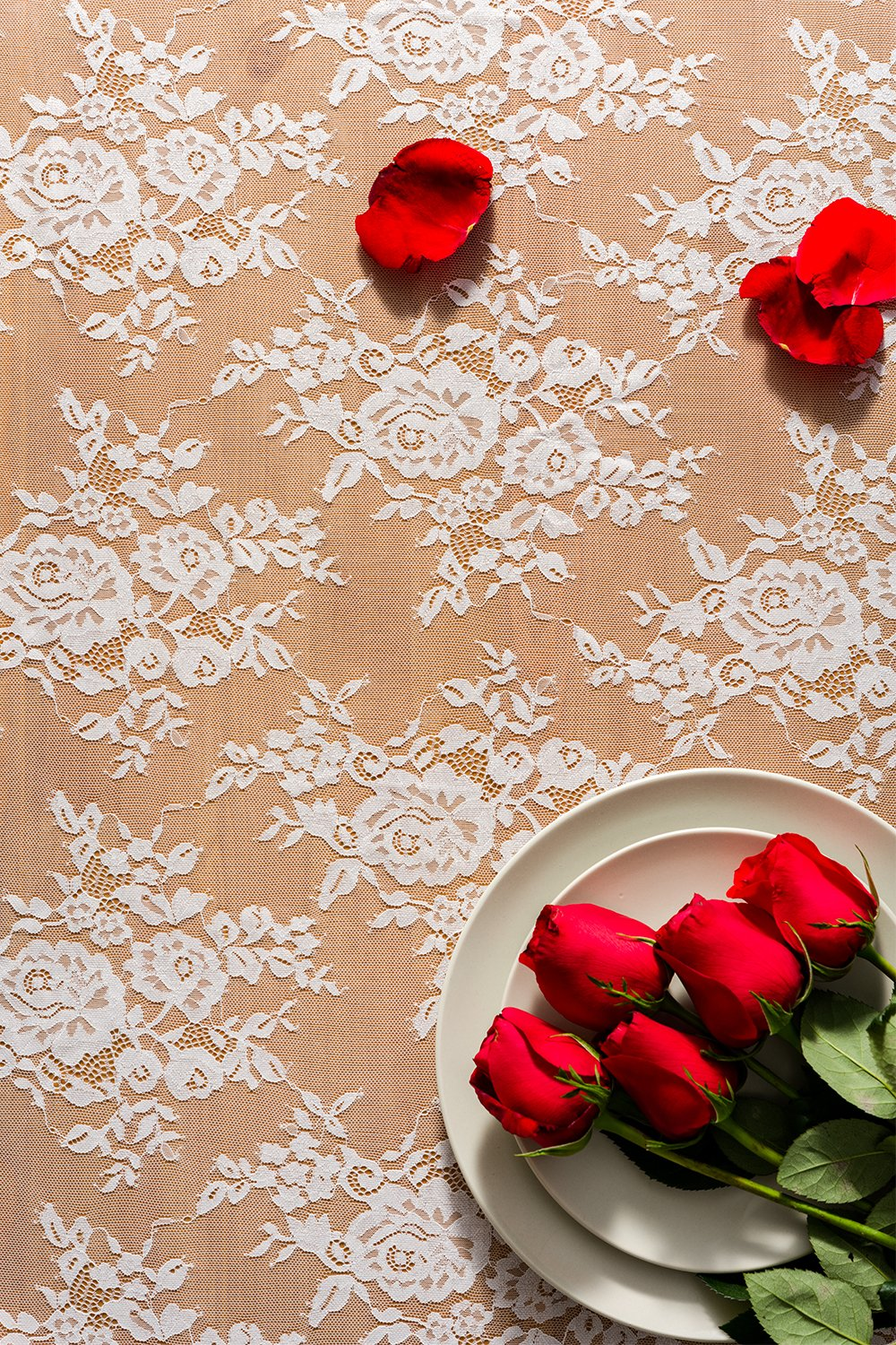 Spring Summer Vintage Garden Tea Party Decor Crisky 30 x 120 Lace Table Runners for Weddings Lace Overlay Bridal Shower Decoration