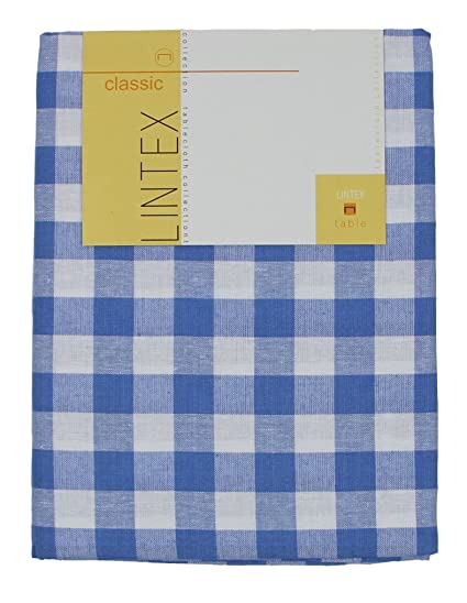 Buffalo Checked Tablecloth By Lintex, Blue (Navy), 52u0026quot;x52u0026quot;,
