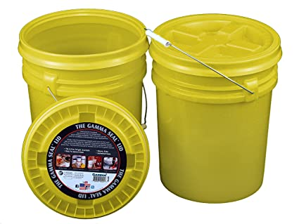 Amazoncom Bucket Kit Two 90 Mil Yellow 5 Gallon Food Grade