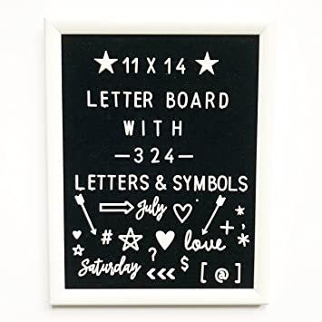 Amazon Com 11 X 14 Changeable Letter Board With White Wood Frame