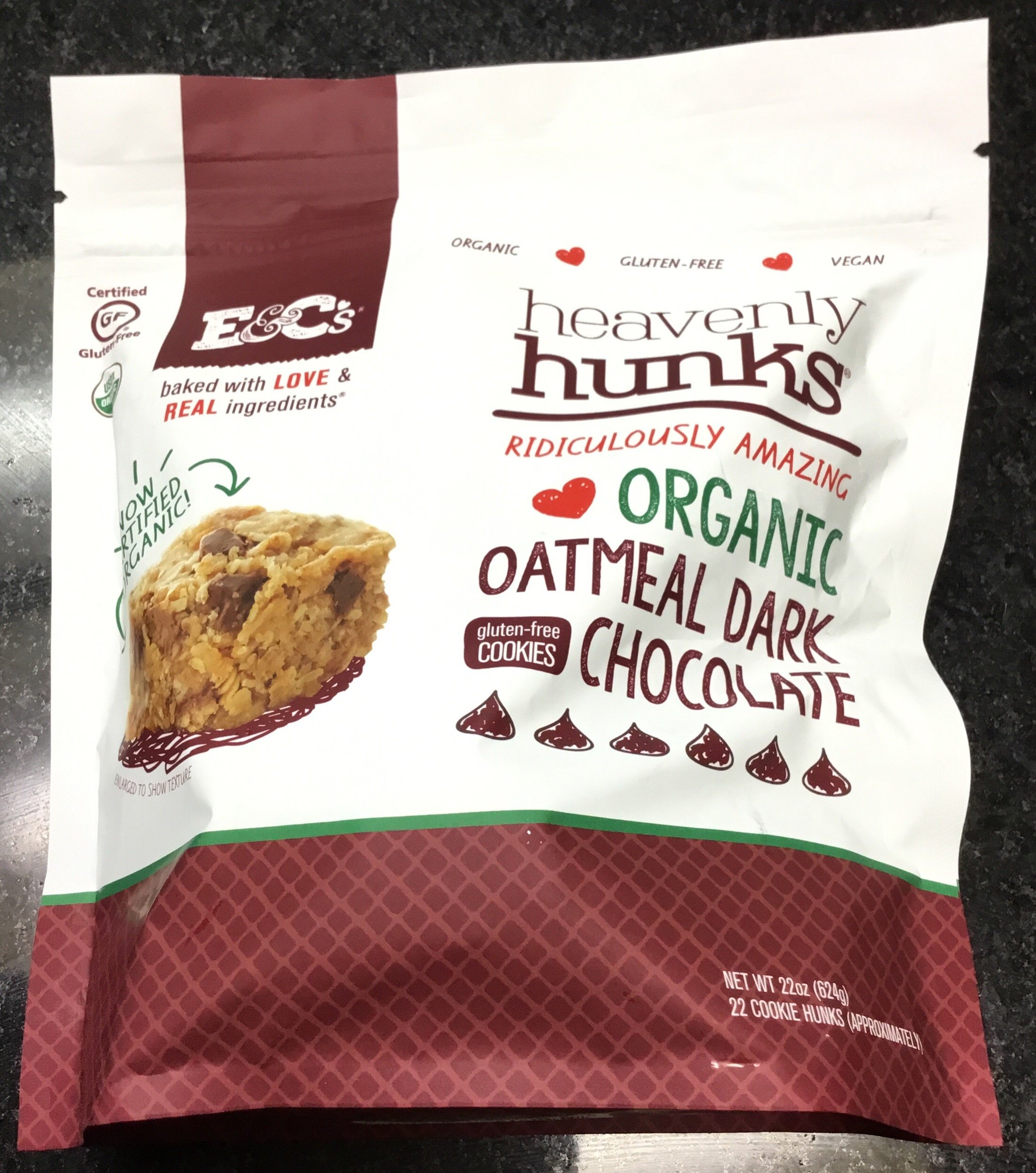 Heavenly Hunks Organic Oatmeal Dark Chocolate 22 oz. by Heavenly Hunks