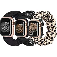 TOYOUTHS 3 Packs Compatible with Apple Watch Band Scrunchies 38mm Cloth Soft Pattern Printed Fabric Wristband Bracelet…