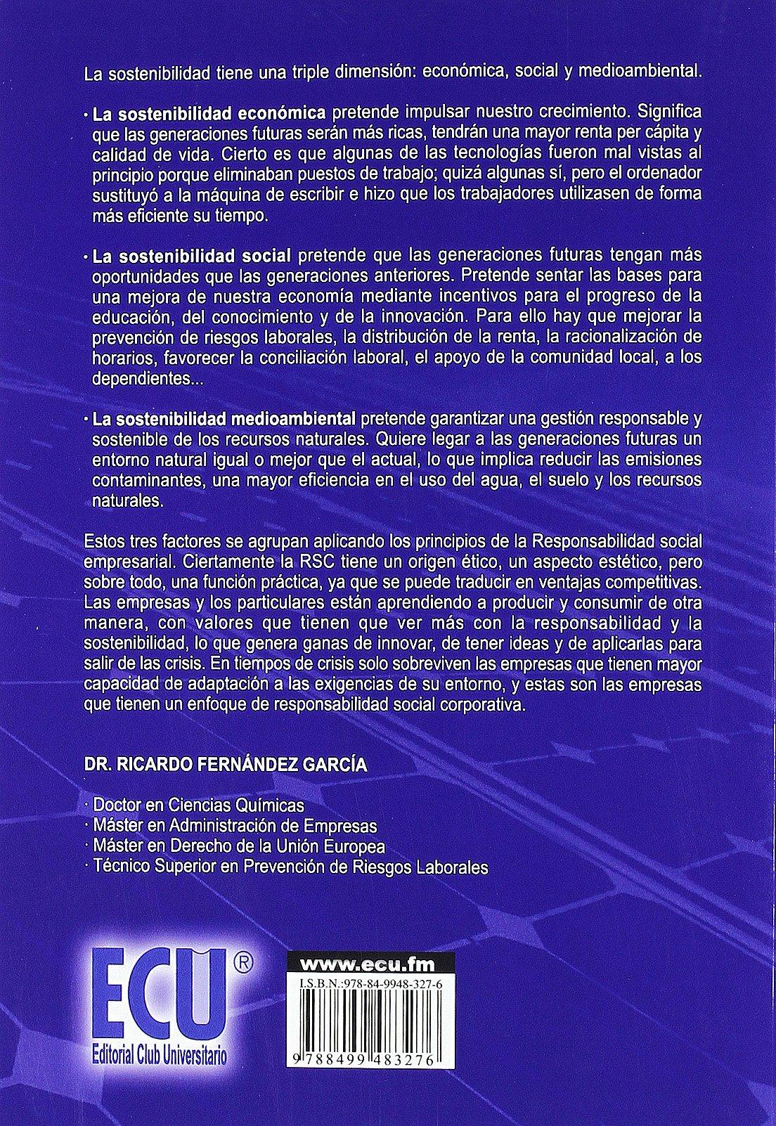 La dimensión económica del desarrollo sostenible: Ricardo Fernández García: 9788499483276: Amazon.com: Books