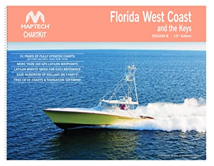 Amazon com florida west coast and the keys chart book maptech