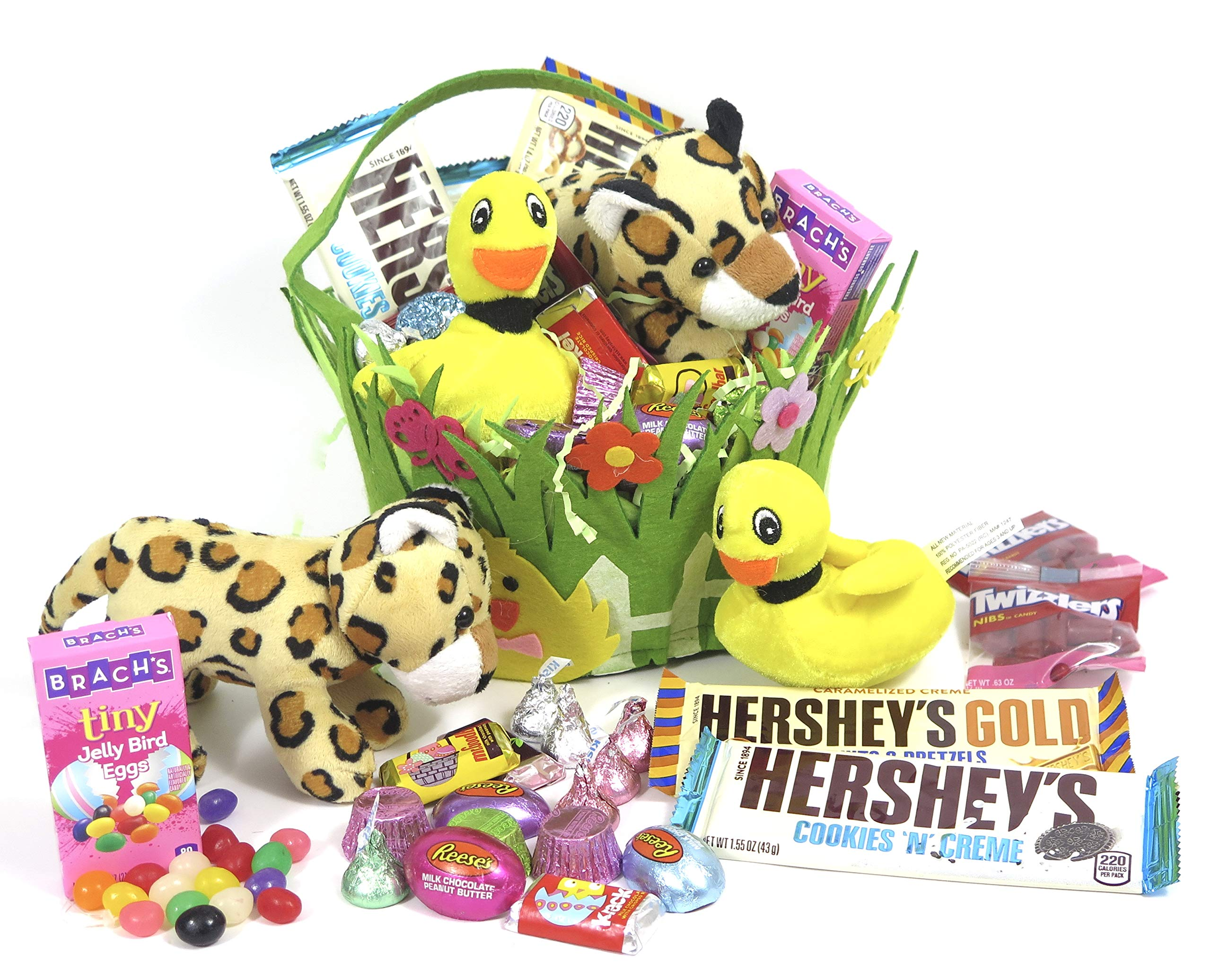 Kids jungle Easter chocolate Hershey's Basket. a toddler and pre school basket.