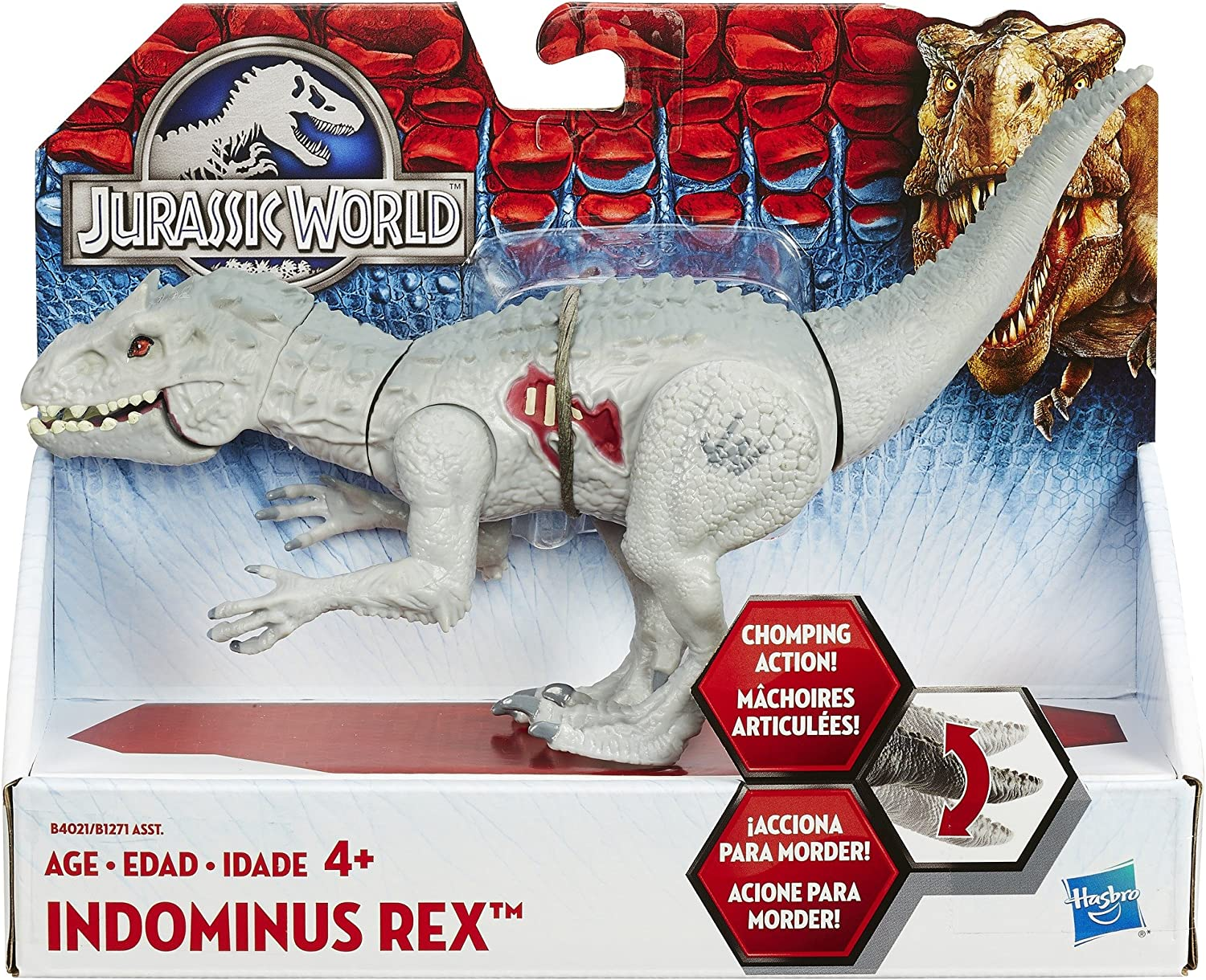 Discontinued by manufacturer Hasbro B4021AS0 Jurassic World Bashers /& Biters Indominus Rex Figure