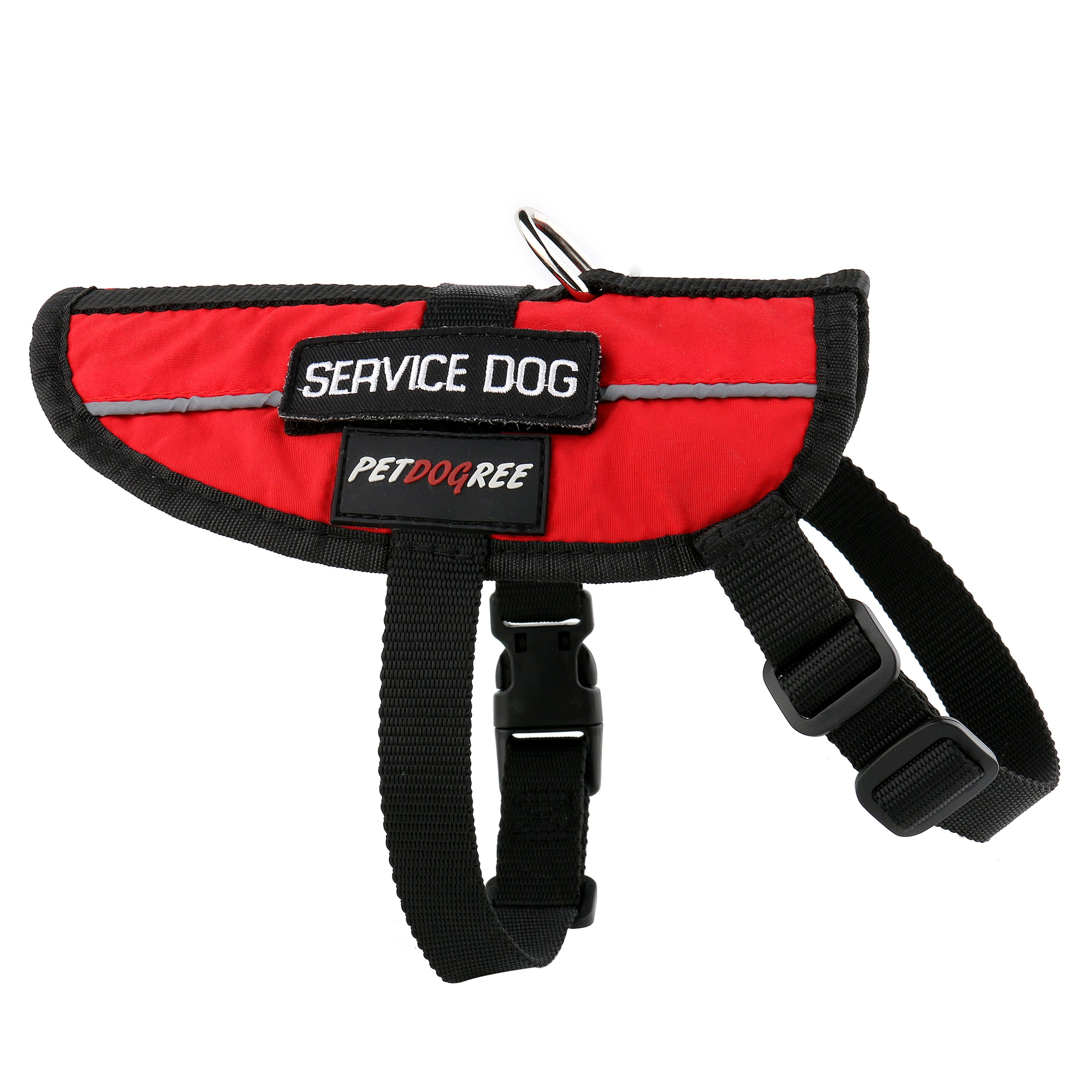Petdogree Lightweight Reflective Red Service Dog Vest/Harness with Removable Patches (Various Sizes). by Petdogree (Image #3)