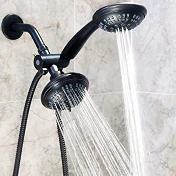 This Dual Shower Head Combination Has A Fixed As Well As A Handheld Shower  Head. They Each Have Four Different Settings, Giving You The Best Shower ...