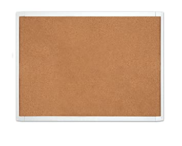 "QUARTET White Frame Cork Board 23"" x 17"" (MHOB1723) Bulletin Boards at amazon"