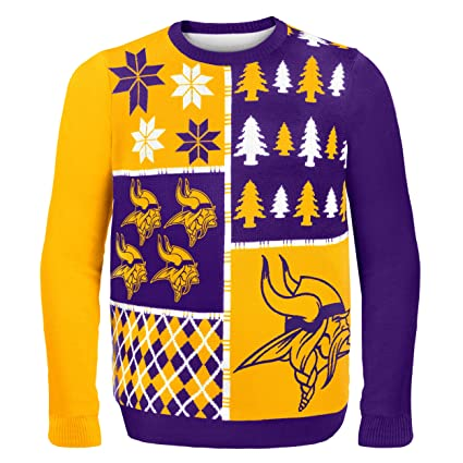 Amazon.com   FOCO NFL Mens Busy Block Ugly Sweater   Sports   Outdoors 2b3dd6b6f