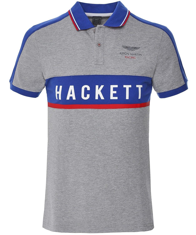 Hackett Hombres Pique Panelled amr Polo Polo Gris XL: Amazon.es ...
