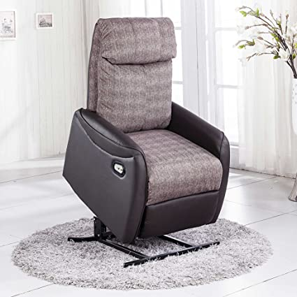 Adec - Sillon relax powerlift lift, medidas 72 x 75 x 95 cm, color negro