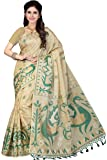 Rani Saahiba Women's Synthetic Saree (Skr2482_Beige-Green)