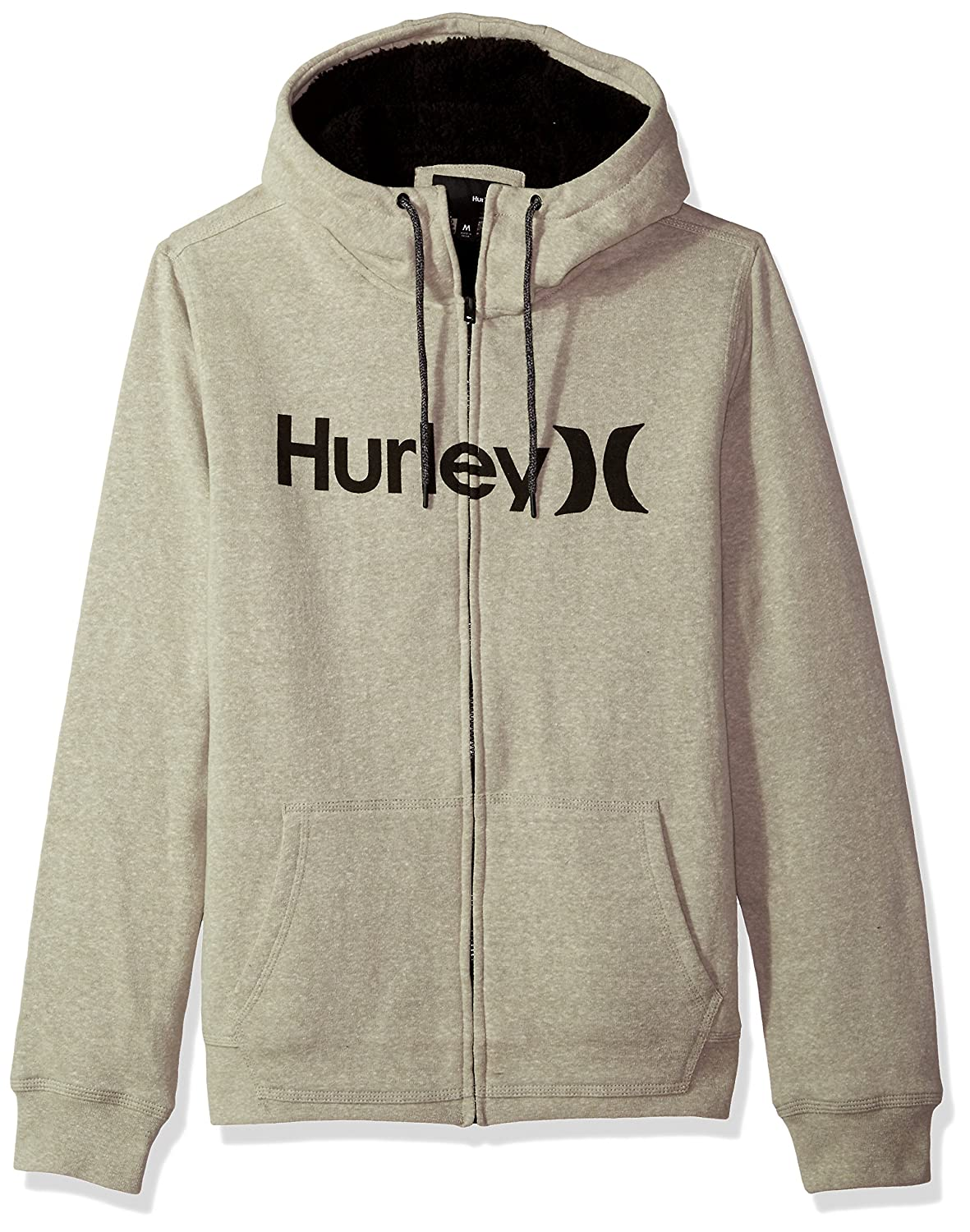 Hurley Men's Long Sleeve Sherpa Lined Zip Up Hoodie MFT0007590