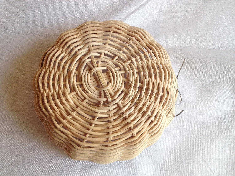 Power of Dream Rattan Nature's Nest Finch Birds Round Bowl Diameter 4 Inchx Height 1 Inch Handmade