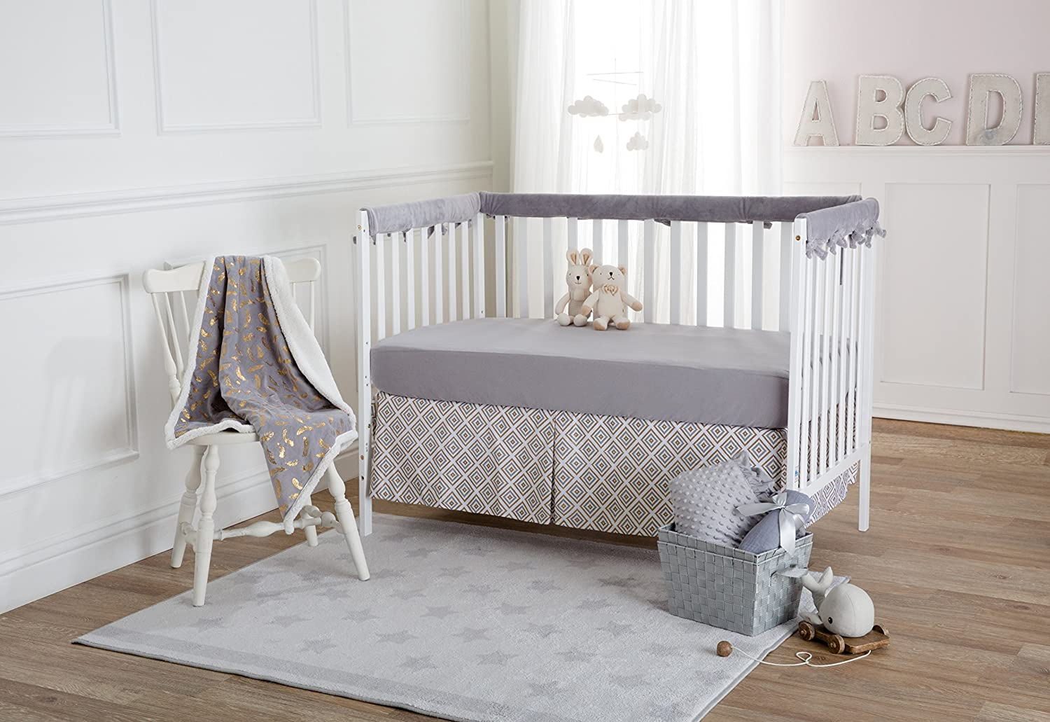 for Girls Soft Breathable American Baby Company Supreme 100/% Natural Cotton Jersey Knit Fitted Crib Sheet for Standard Crib and Toddler Mattresses Lavender