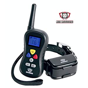 Lobo Commander Waterproof Rechargeable Wireless 400 Yard Electronic Dog Training Collar with Remote