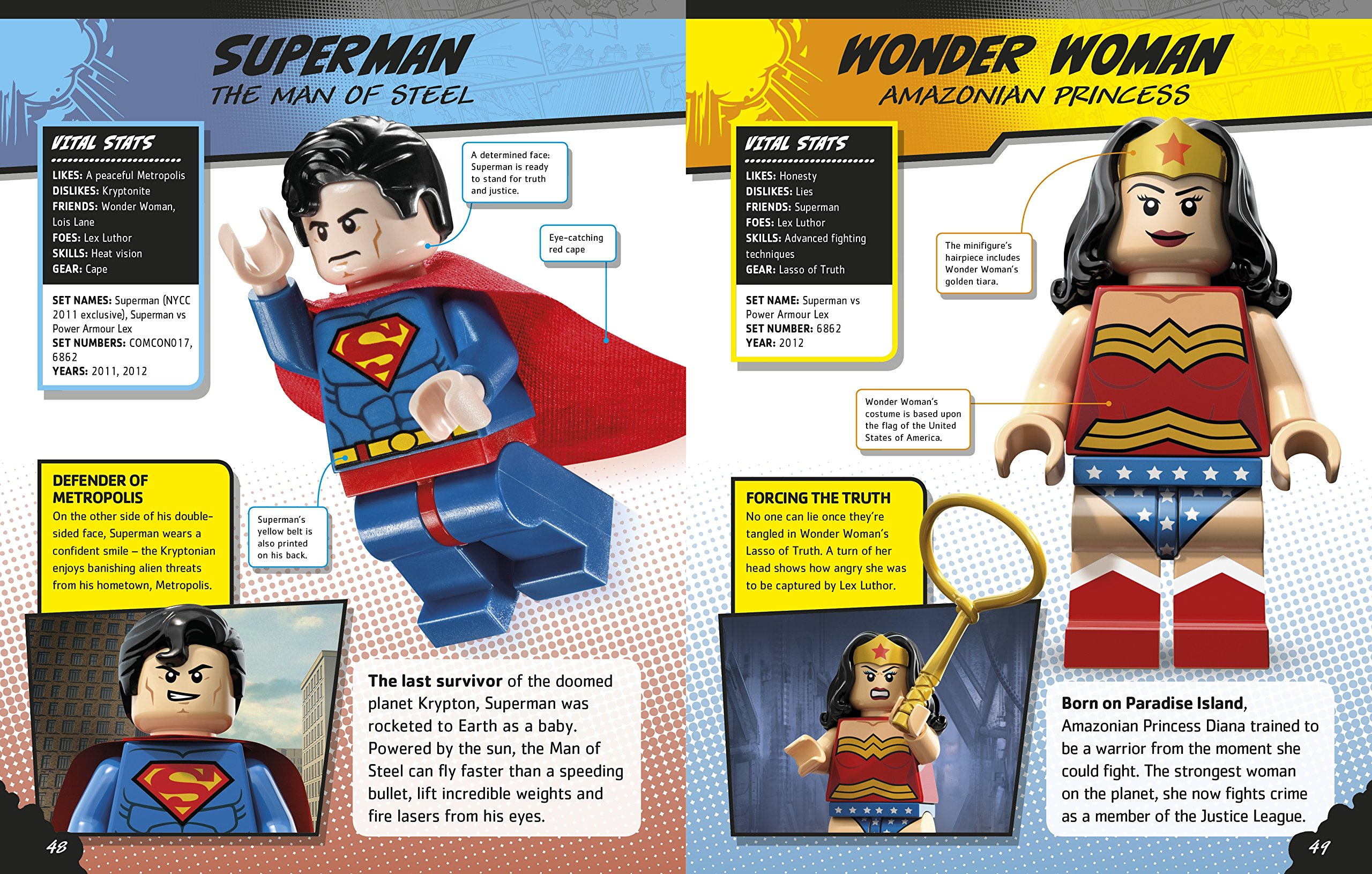 LEGO DC Super Heroes Character Encyclopedia With Minifigure DK - Superheroes re imagined as if they were sponsored by big brands