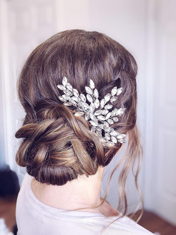Jeweled Silver Filigree Hair Pin Purple Topaz Statement Hair Comb Women Birthday Gift Victorian Style Bridal Hair Piece Gift under 75