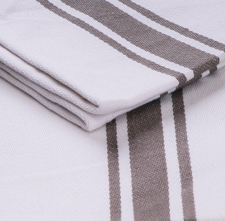 Utopia Towels - Paño de Cocina (12 Piezas) Lavable a máquina de algodón Cocina Blanca Paños de Cocina Toallas de té Toallas (38 x 64 cm) (Gris): Amazon.es: ...