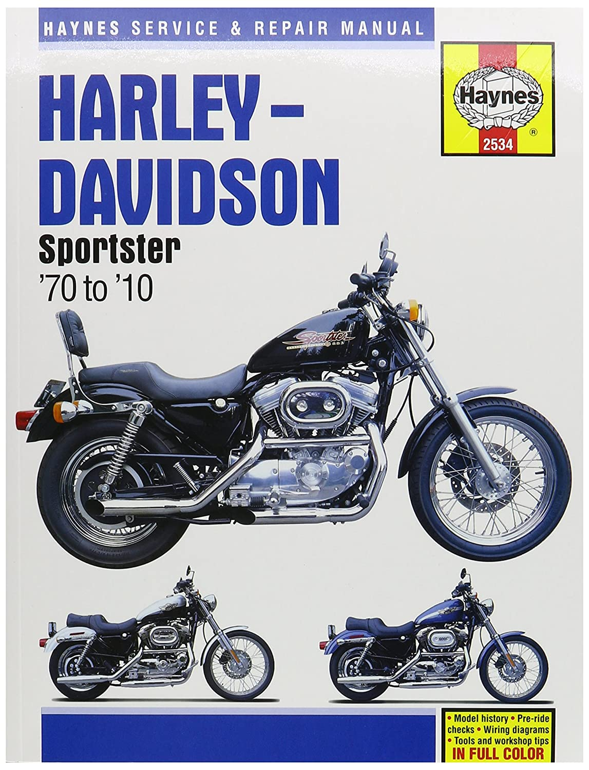 Amazon.com: 1970-2013 Harley Davidson Sportster XL 883 1200 HAYNES MANUAL  2534: Automotive