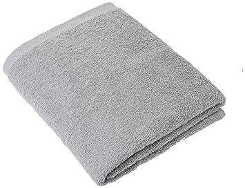Lasa Home - Toalla de baño, algodón, Plata, 100 x 150 x 1 cm: Amazon.es: Hogar