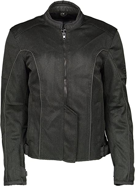 M Boss Motorcycle Apparel BOS22702 Ladies Black and Fuchsia Mesh Racer Jacket with Full Armor 2X-Large
