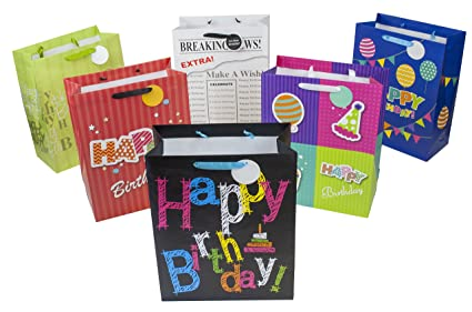 Amazon 12 Designer Birthday Gift Bags 16 X 6 Large