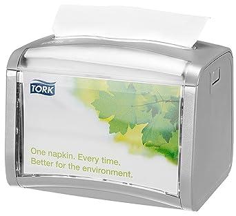 Tork 272613 - Dispensador de servilletas de sobremesa, color gris claro