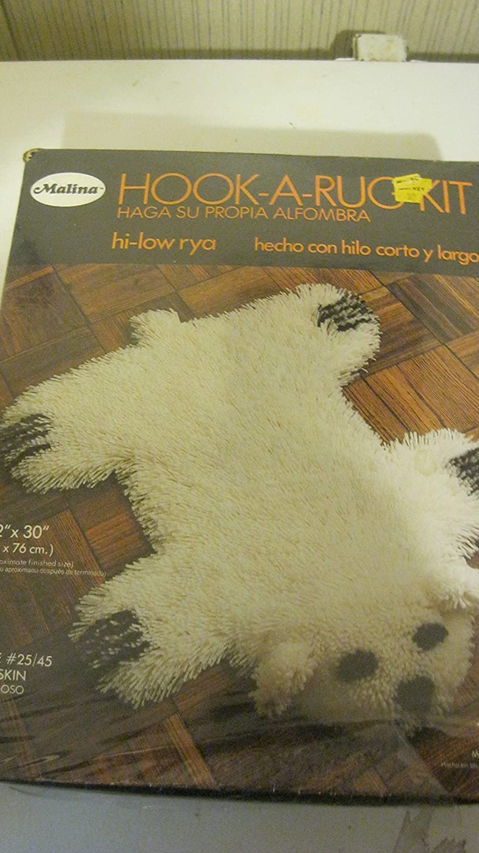 Malina Hook A Rug Latch Hook Kit Bearskin 22 x 30