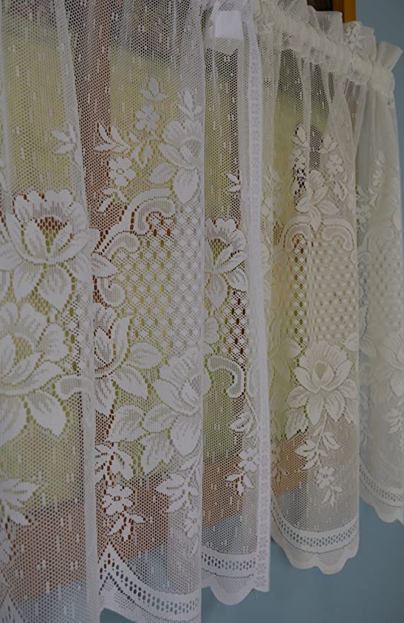 00805-21-038-IV Curtain Chic Cameo Rose Swag Ivory Inc