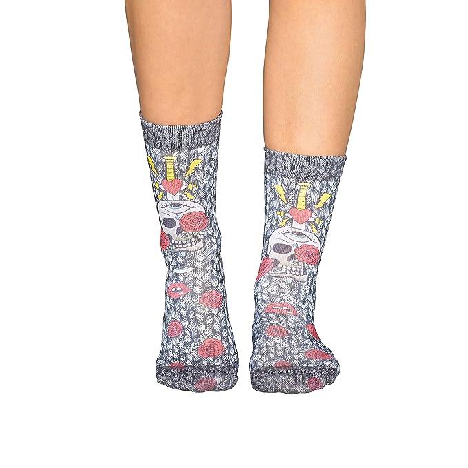 Wigglesteps - Calcetines - para mujer Multicolor gris claro 36/41