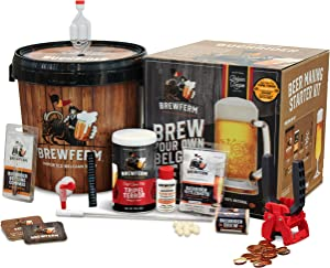 Brewferm Buckrider Belgian Homebrewing Premium Deluxe Brew Kit - Tripel Terror Premium Deluxe Craft Brew Mix - No Boil - Makes 15 Liters/ 4 gallons