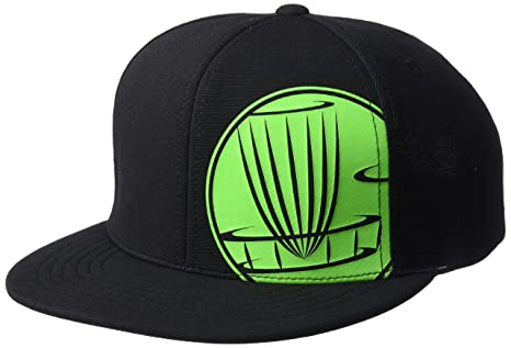 DGA Circle Stamp Adjustable Snapback Disc Golf Hat - Black w Green Print 6de9a8d0a390