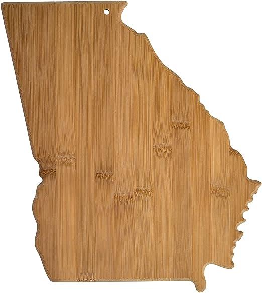 Totally Bamboo 20-7965GA Georgia State Shaped Bamboo Serving & Cutting Board
