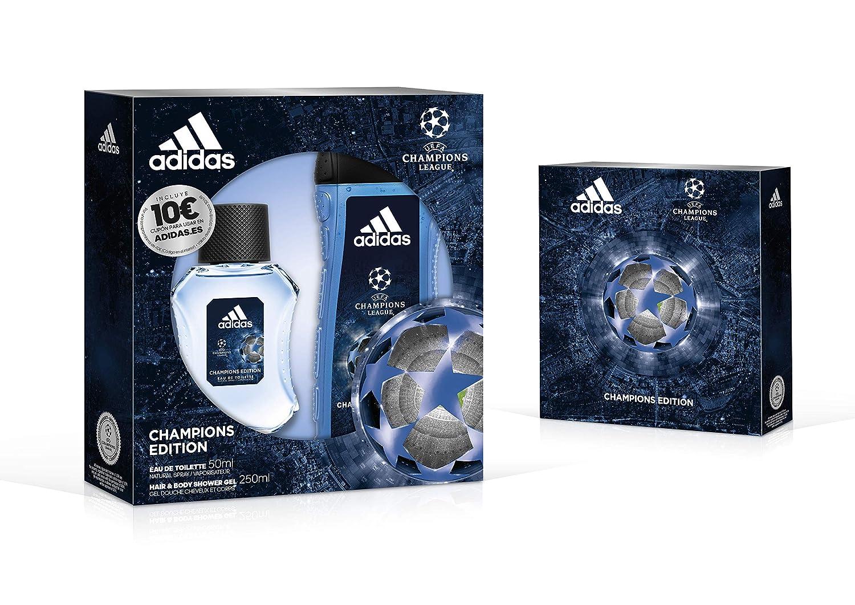 Adidas Uefa Champions Edition Set Hombre Duplo Edt 50 + Gel 250: Amazon.es: Belleza