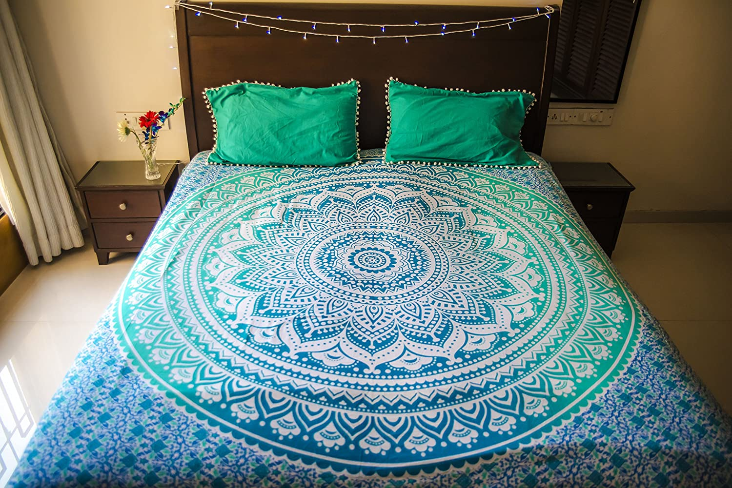 Indian Mandala Tapestry Decor Wall Hanging Hippie Throw Bohemian Ombre Bedspread