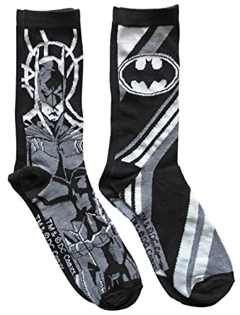 a35ec0fcd226 Image Unavailable. Image not available for. Color: Hyp DC Comics Batman  Gotham Men's Crew Socks 2 Pair Pack Shoe Size ...