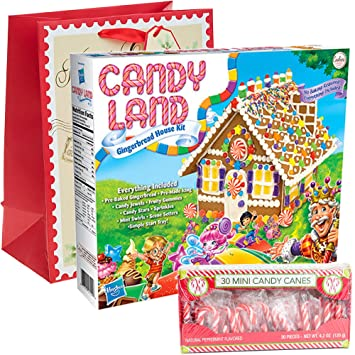 Amazon candyland gingerbread house kit pre baked pack of 30 candyland gingerbread house kit pre baked pack of 30 mini peppermint candy cane solutioingenieria Gallery