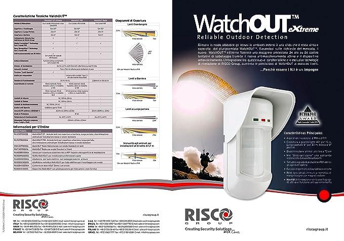 Risco RK315DT0000C WatchOUT Extreme DT-Detector de Exterior ...