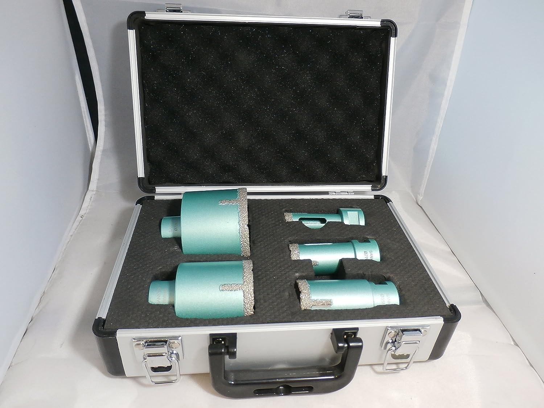 Maletín con 5 unidades de SANKYO Vakkum brazet – Broca (D 20 – 27/35 – 55 – 72 mm, profundidad de perforación con 40 mm): Amazon.es: Bricolaje y herramientas